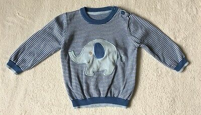 ***George baby boy Elephant knitted jumper top 9-12 months EXCELLENT***