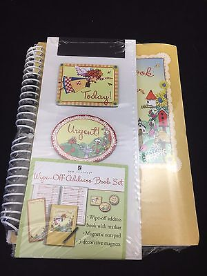 New Seasons Wipe Off Dry Erase Address Book Set