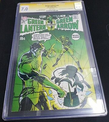 Green Lantern #76 (Apr 1970, DC) CGC SS 7.0 Signed by Neal Adams