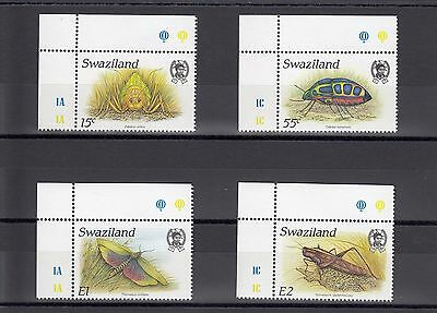 Timbre Stamp  4  Swaziland Y&t#537-40 Insecte Neuf**/mnh-Mint ~A02