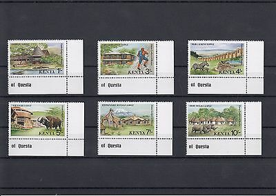 Timbre Stamp  6  Kenya Y&t#427-32 Hotel Tourisme Animal Neuf**/mnh-Mint 1988~A02
