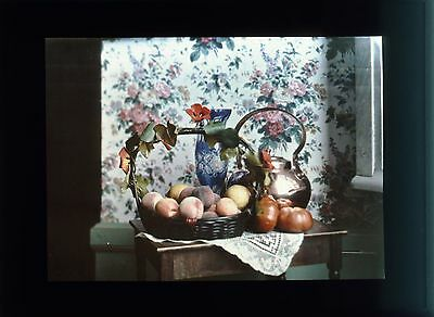PARIS NATURE MORTE AUTOCHROME LUMIERE PLAQUE STEREO 9x12 VUE PHOTO