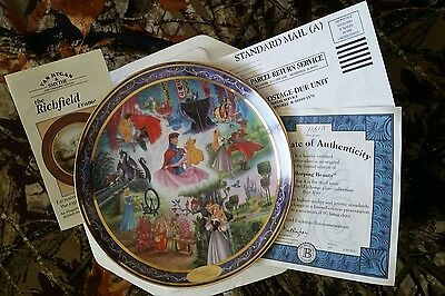 "Bradford Exchange ""Sleeping Beauty"" Ever After Plate 113A w/COA"