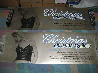 CHRISTINA AGUILERA-(my kind of christmas)- 1 POSTER-2 SIDED-12X36-MINT-RARE