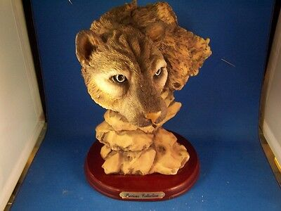 Cougar Head Figurine Precious Collectible New! Low Ship. Good Details