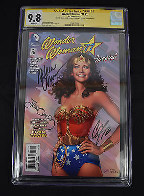 Wonder Woman 77 2 DC 9.8 CGC SS Signed 3x Marc Andreyko Cat Staggs Jason Badower