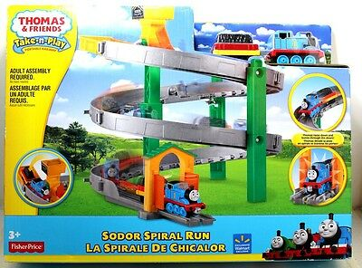 Fisher Price Thomas & Friends Take N Play Sodor Spiral Run Track Set