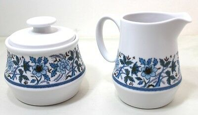 Noritake Progression Blue Moon Pattern 9022 Sugar Bowl And Creamer Combo