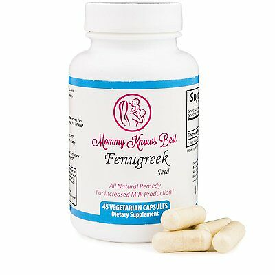 Mommy Knows Best FENUGREEK Seed Nursing Baby Increasing Milk Lactation Supply