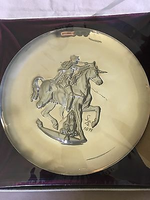 "Lincoln Mint 1971 Plate: ""Unicorn Dyonisiaque"" by Salvador Dali - Unopened"