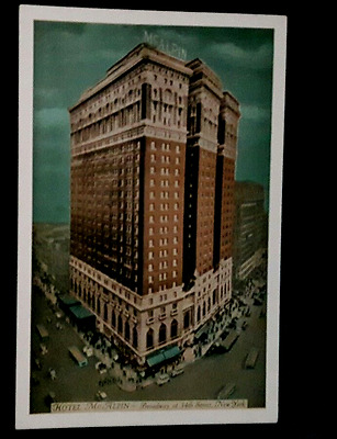 Postcard 1940 vintage USA McAlpin Hotel Broadway at 34th Steet NY City unused