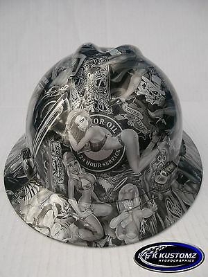 Naughty Boy Pattern Full Brim New Custom MSA V-Gard Hydro Dipped Hard Hat