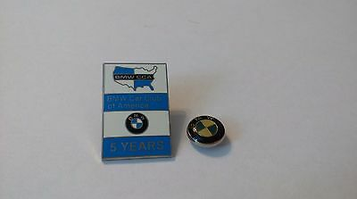 Pin Badge and Stud BMW CCA Car Club of America 5 Years