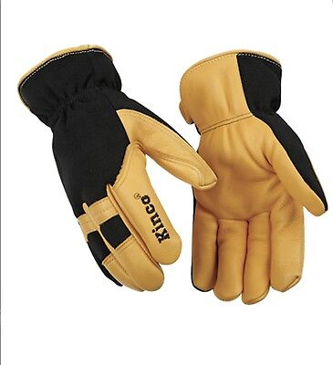 Kinco Men's Deerskin Leather Heatkeep Insulated Thermal Lined Work Gloves Medium