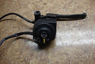 1988 Yamaha Scooter CG50 CG 50 Jog Front Right Switches Brake Lever Mount C11