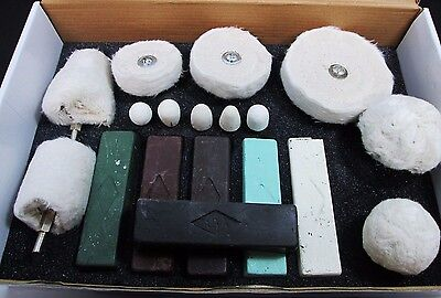 18pc Polishing Buffing Kit for Aluminium Steel Brass Plastic for Drill PW163
