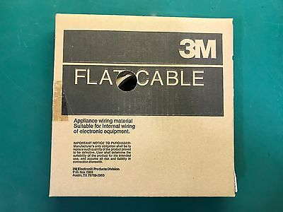 NEW 3M Flat Ribbon Cable Wire 3365/10, 28 AWG, 300V, PITCH 0.05, 100 FT