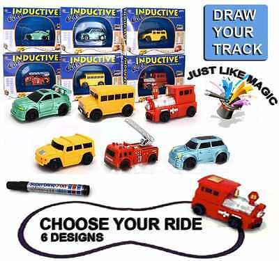 Follow Any Drawn Line Magic Pen Inductive Toy Car Truck Bus Tank Model UK SELLER