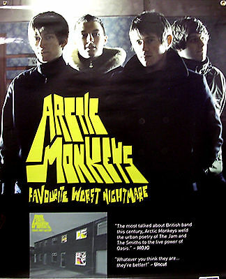Arctic Monkeys Favourite Worst Nightmare GIANT IN-STORE PROMO POSTER 3X4 foot VG
