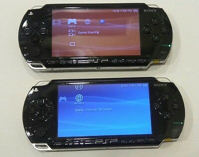 ⭐Pre-owned⭐2 PSP-1001 systems lot/bundle with battery/power cord/2 games&2movies