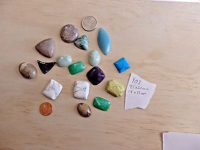 WHOLESALE LOT 500 Cts Gemstone MIXED cabs cabochons USA seller (lot Y03)