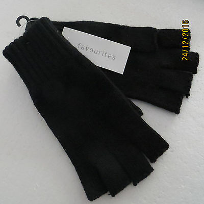 Quality Knitted Thermal Men Ladies cut finger gloves fingerless......