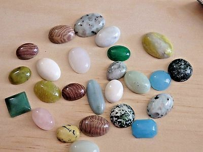 WHOLESALE LOT 500 Cts Gemstone MIXED cabs cabochons USA seller (lot Y02)