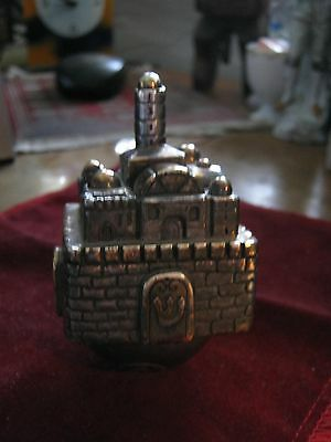 """Large 2"""" Square 3 1/2"""" Tall Sterling 925 Dreidel, TEMPLE MOUNT, Israel Made LQQK"""