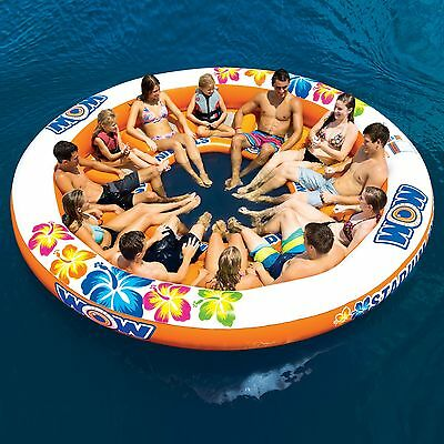 Stadium Islander 12 Persons party island lounge river lake tube inflatable raft