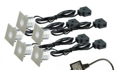 NEW 5 Pieces LED Square Decking Cable Set