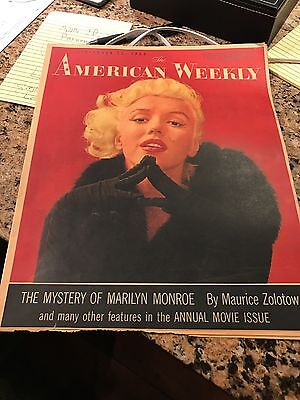 Magazine  Paper Times Union Albany Ny Marilyn Monroe  American Weekly 1955