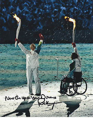 Rick Hansen Signed Autographed 8X10 Photo 2010 Olympic Games