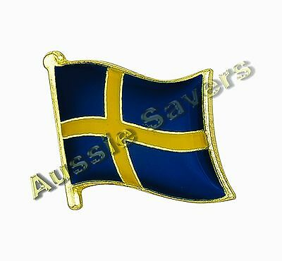 Sweden Flag Hat Pin / Badge / Brooch - Brand New