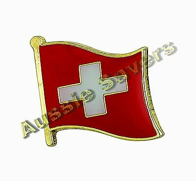 Switzerland Flag Hat Pin / Badge - Brand New