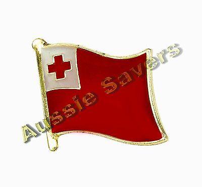 Tonga Flag Hat Pin / Badge - Brand New