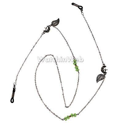 Crystal Beaded Eyeglass Cord Reading Glasses Eyewear Spectacles Chain Holder