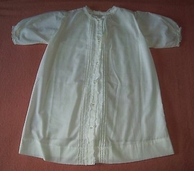 Vintage White Christening Gown, and Petticoat