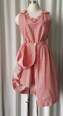 Vintage 50's Sherry Lynn vichy checks red and white romper with overlay skirt