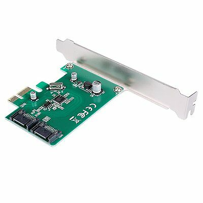 SuperSpeed PCI-E to SATA 3.0 2-Port Express Card and Short Baffle I/O Cards