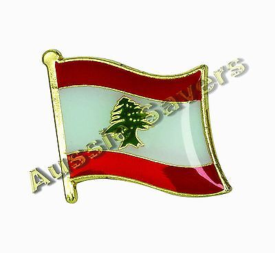 Lebanon Flag Hat Pin / Badge - Brand New