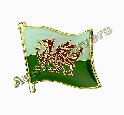 Wales Flag Hat Pin / Badge - Brand New