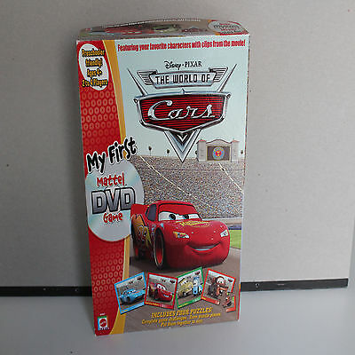 Disney Cars DVD Game Puzzle Board Game Mattel 100% Complete