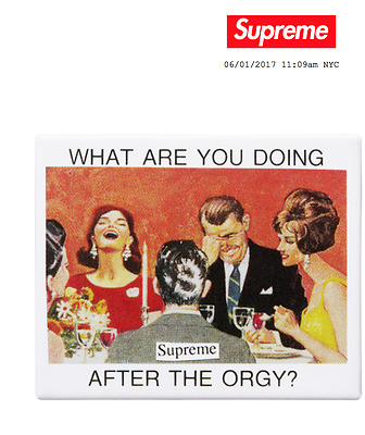 """Supreme """"what Are You Doing After The Orgy???"""" Vintage Style Magnet - Soldout!!!"""