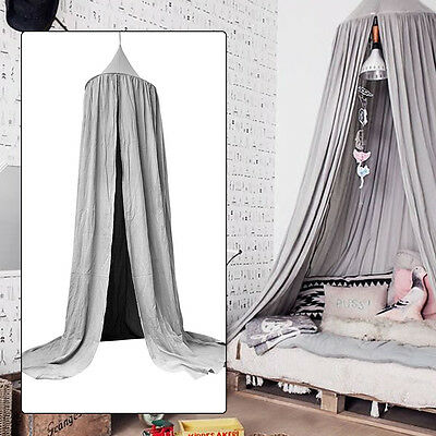 Canopy Bed Netting Mosquito Bedding Net Play Tents For Baby Kids Children Grey