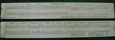 Musigraph slide rule - vintage original invention only 5000 were ever made 1970s