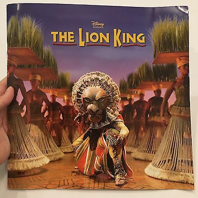 Disney Presents the Lion King Broadway Musical Program Book UK Tour C2