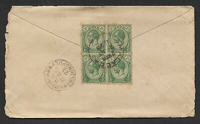 (111cents) Malaya Straits Settlements used in Malacca 1923 Cover
