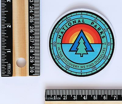 outdoor Camping National Parks discovery hiking compass style decal sticker 2710