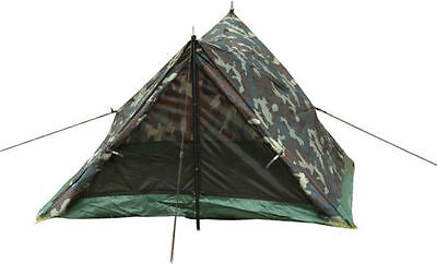 NEW Woodland Camouflage 2 Person Camping Trail Tent Rothco 3808  - Ships Free