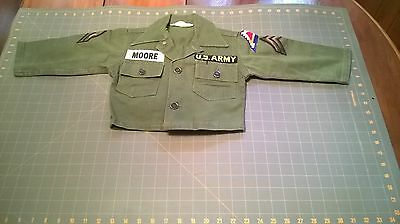 WW2 children kid Uniform HBT 13 star buttons fruit of the loom 7th Army corporal